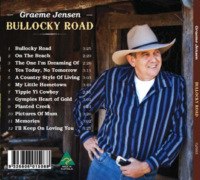 Bullocky Road CD Back Cover - Graeme Jensen